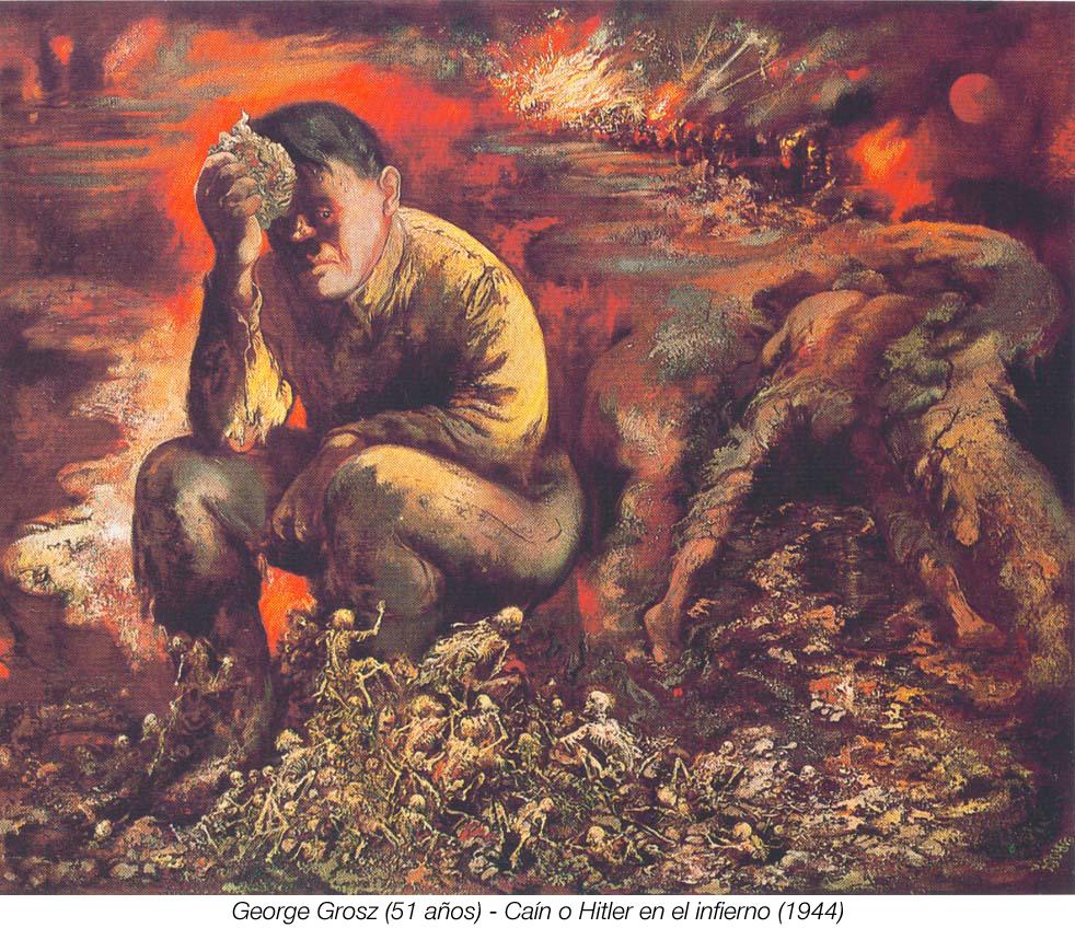 Las Pinturas de Adolfo Hitler. Hh-0389a-george-grosz-cain-o-hitler-en-el-infierno-pintura-siglo-xx